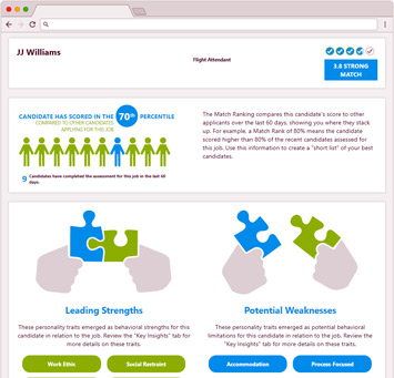 Pre-employment  Assessments - Selection report - OutMatch for Managers, Professionals, Executives - can do Hourly, Sales, Managers, Professionals, Executives - pre-employment selection, OutMatch Pre-employment  Assessment System, OutMatch Assessment Platform, hiring selection, formerly Assess for Managers, Professionals, Executives