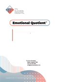TTI Emotional Quotient, EQ report cover - Emotional Intelligence assessment - TTI Performance Systems - TTI emotional quotient, eq, emotional intelligence assessment